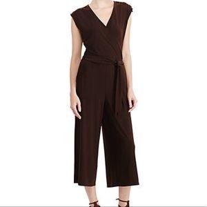 Ralph Lauren Brown Jersey Jumpsuit EUC Medium